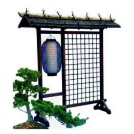 Raumteiler Paravent Dangban mit lampe