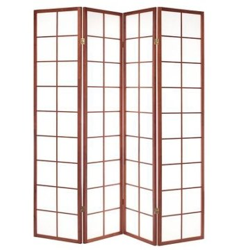 Raumteiler Paravent japan traditional 4-flügel honig