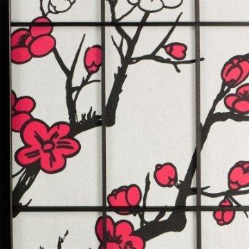 Raumteiler Paravent Kirschbluete 4-flügel Muster