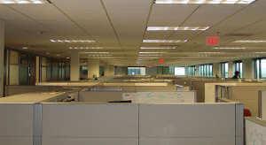 Trennwände eines amerikanischen Großraumbüros