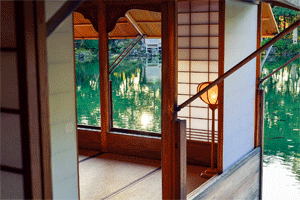 Raumteiler mit Shoji-Vlies