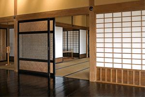 Raumteiler-Schiebetür traditionell japanisch